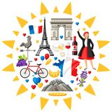 France background design. Stock Images