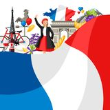 France background design. Stock Photo