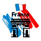 France background design. French traditional symbols and objects Royalty Free Stock Images