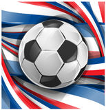 France background. With flag and soccer ball Stock Photo