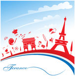 France background. With flag and symbol Stock Photo