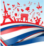 France background. With flag and symbol Royalty Free Stock Photo