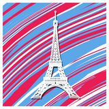 France background Vector design. Creative Vector illustration, card, banner or poster for the French National Day. 14 th of July. Happy Bastille Day stock illustration