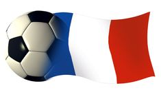 France ball flag. World cup ilustration Stock Photography