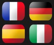 France bandery German Włoch Hiszpanii royalty ilustracja