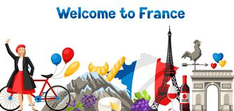 France banner design. Royalty Free Stock Photography