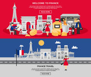 France Banner Set Royalty Free Stock Image