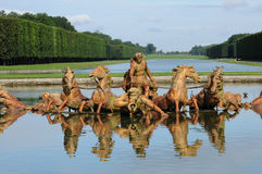 France, Bassin du Char d Apollon in the park of Versailles palac Royalty Free Stock Images