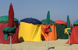 France, beach of Deauville Royalty Free Stock Photography