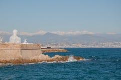 France. Beautiful ocean near Antib, France Stock Image