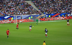 France-Belgium football match Royalty Free Stock Photography