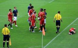 France-Belgium football match Royalty Free Stock Photos