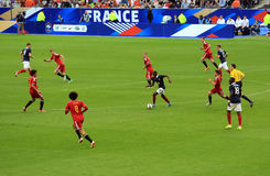 France-Belgium football match Royalty Free Stock Image