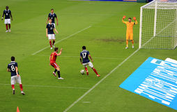France-Belgium football match Stock Image