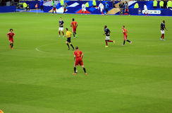France-Belgium football match Royalty Free Stock Photos