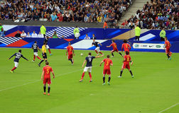 France-Belgium football match Stock Images
