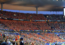 France-Belgium football match Stock Photos