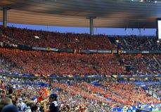 France-Belgium football match Stock Photos
