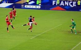 France-Belgium football match Stock Photo