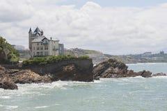 FRANCE, BIARRITZ - August 2, 2014: Villa Belza on the Atlantic c Royalty Free Stock Photography