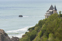 France, Biarritz - JULY 21, 2014: View of the Atlantic Ocean and Stock Images