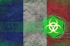France biohazard threat. Biological danger concept. Royalty Free Stock Photos