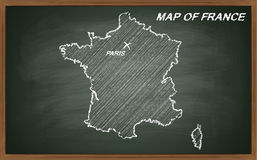 France on blackboard Royalty Free Stock Photography