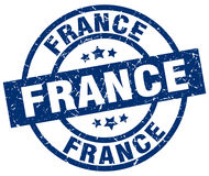 France blue round stamp Stock Images