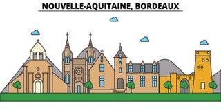 France, Bordeaux, Nouvelle Aquitaine . City skyline architecture. France, Bordeaux, Nouvelle Aquitaine . City skyline architecture, buildings, streets Royalty Free Stock Photography