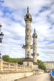 France. Bordeaux. Rostral columns Navigation and Commerce Royalty Free Stock Photography