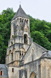 France, Brantome abbey church in Dordogne Royalty Free Stock Photos