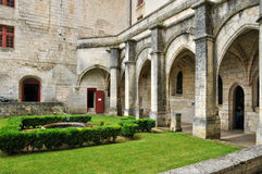 France, Brantome abbey church in Dordogne Stock Image