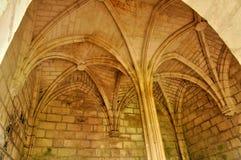 France, Brantome abbey church in Dordogne Stock Photography