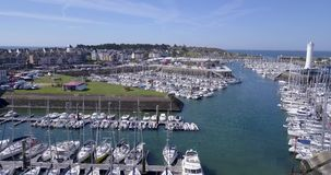 France, Brittany - Aerial View Harbor Of Crouesty stock video footage
