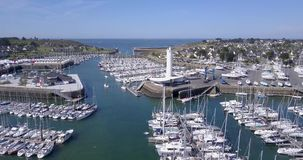 France, Brittany - Aerial View Harbor Of Crouesty stock video