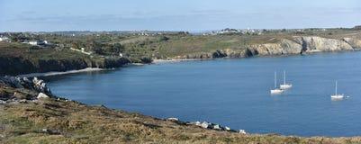 France, Brittany, Bretagne, Finistere. Rocky landscape at Presqu`ile Crozon Stock Photo