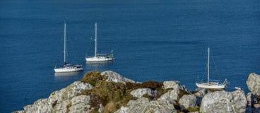 France, Brittany, Bretagne, Finistere. Rocky landscape at Presqu`ile Crozon Stock Photos