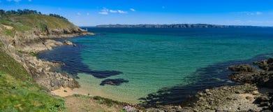 France, Brittany, Bretagne, Finistere. Rocky landscape at Presqu`ile Crozon Royalty Free Stock Images