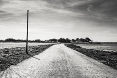 France, Brittany, Road Only Accessible at Low Tide royalty free stock images