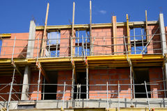 France; a building site in les Mureaux royalty free stock photo
