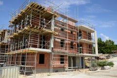 France, a building site in Les Mureaux stock image