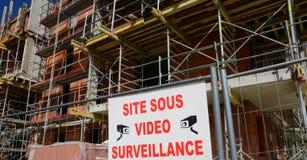 France; a building site in les Mureaux Stock Photos