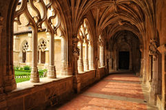 France, Cadouin abbey in Perigord royalty free stock photo