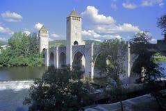 France cahors partii rzeki Fotografia Royalty Free