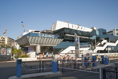 FRANCE, CANNES - AUGUST 7, 2013: Casino in Cannes on the Croiset Royalty Free Stock Photography