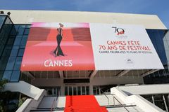 France, Cannes, poster International Film Festival Royalty Free Stock Images