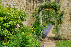 Free France, Canon Castle Garden In Normandie Stock Photography - 36736802