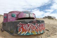 France, Cap Ferret, german bunker Stock Photo