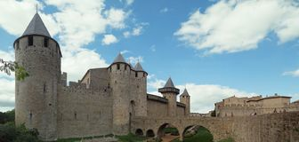 Château Comtal at the medieval walled city of Carcassonne royalty free stock image