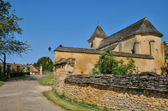 France, the Carlucet church in Perigord Stock Photography